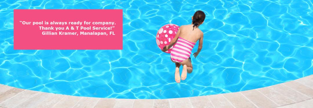 Weekly pool service, pool cleaning, happy kids in pool, palm beach,  delray beach, manalapan, west palm beach, lake worth, lantana, boynton beach, FL